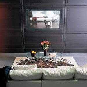 BOISERIE in wengè con Monitor LCD - LISTONE GIORDANO