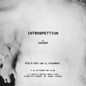 INSTROSPETTIVA – Alexander Dimitrios Papadopoulos 01/09/2018 18.00